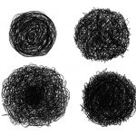 4 Scribble Ball Circle (PNG Transparent)