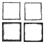 4 Square Scribble Frame (PNG Transparent)