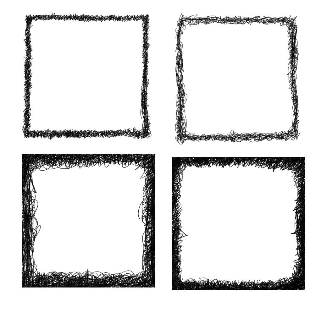 4 Square Scribble Frame (PNG Transparent) | OnlyGFX.com