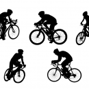 5 Bicycle Ride Silhouette Side View (PNG Transparent)
