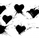 6 Grunge Heart Stamp (PNG Transparent)