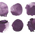 6 Purple Watercolor Circle (PNG Transparent)