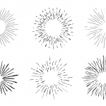 6 Vintage Starburst Drawing (PNG Transparent)