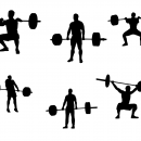6 Weightlifter Silhouette (PNG Transparent)