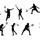 8 Badminton Silhouette (PNG Transparent)