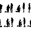 8 Proposal Silhouette (PNG Transparent)