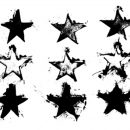 9 Grunge Star Stamp (PNG Transparent)