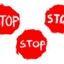Grunge Stop Sign (PNG Transparent)