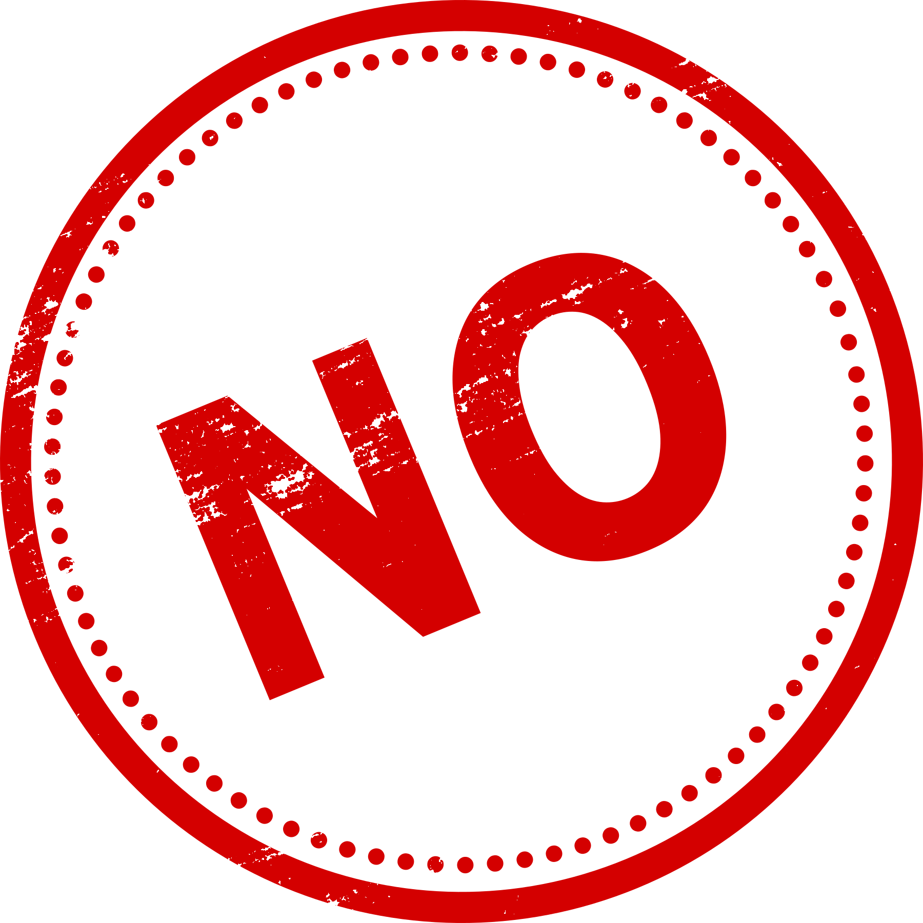 8 Yes No Stamp (PNG Transparent)