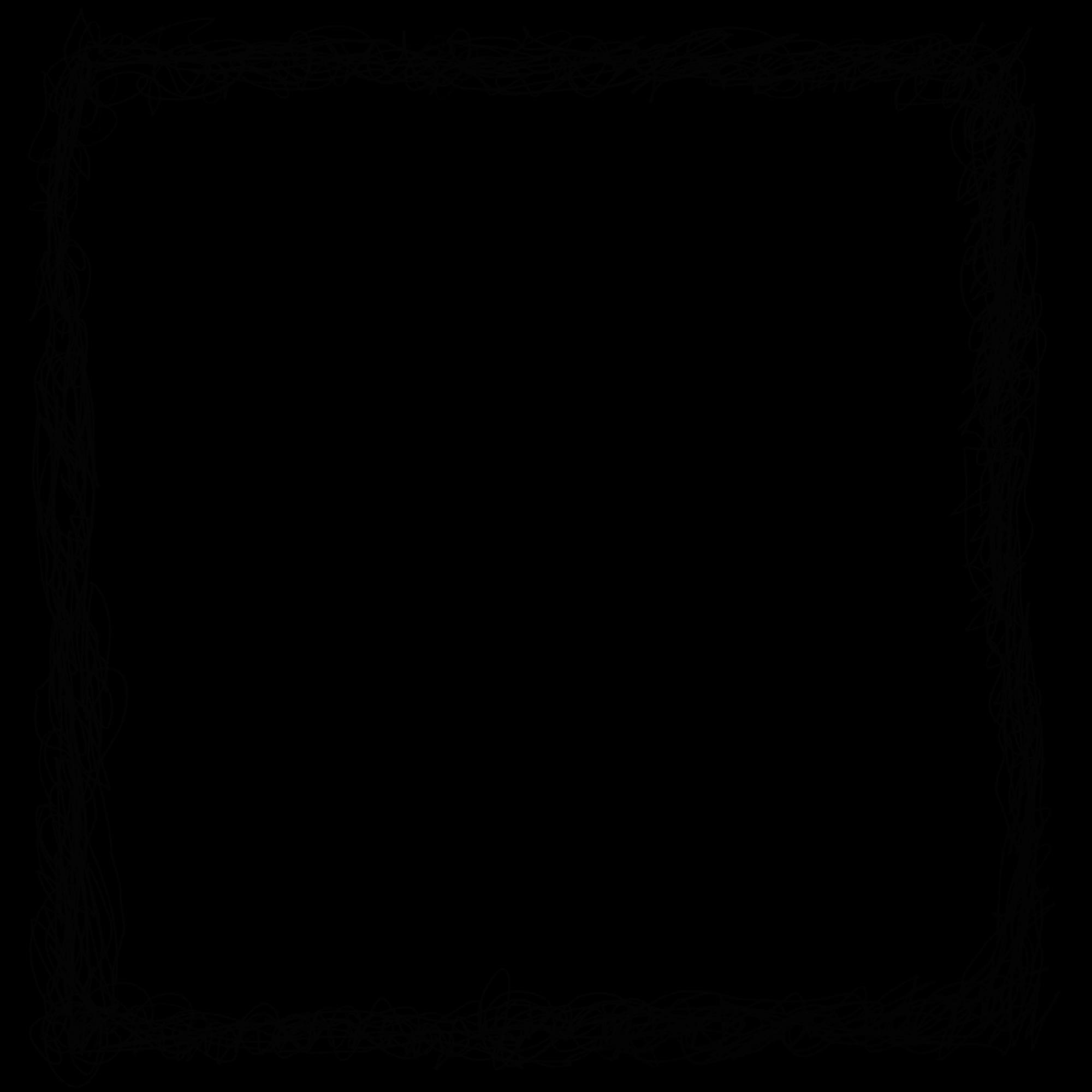 4 Square Scribble Frame (PNG Transparent) | OnlyGFX.com