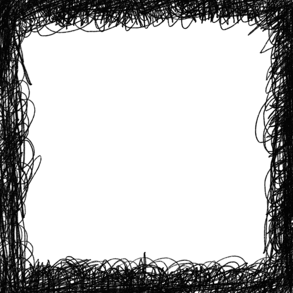 4 Square Scribble Frame (PNG Transparent) | OnlyGFX com