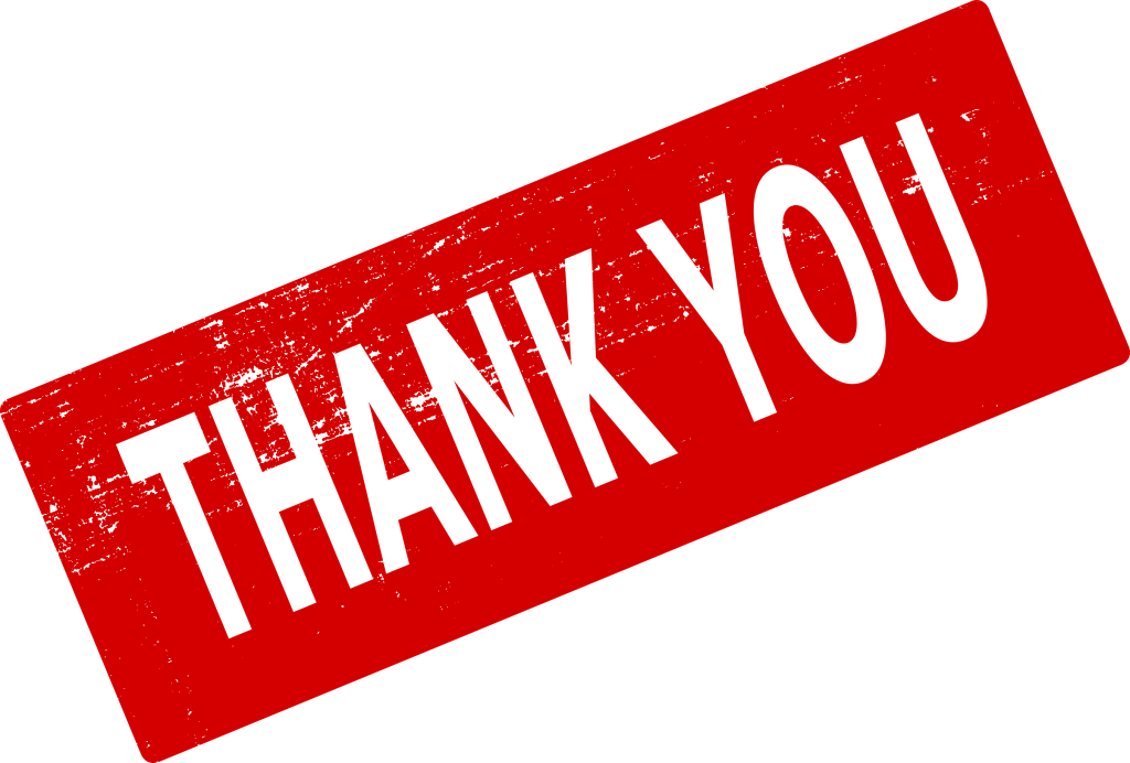 transparent thank you