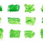12 Green Watercolor Background (JPG)