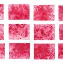 12 Red Watercolor Splash On Canvas Background (JPG)