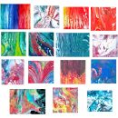 15 Abstract Marble Marbling Backgrounds (JPG)