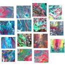 15 Abstract Marble Marbling Backgrounds (JPG) Vol.2