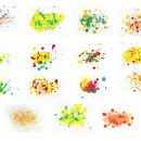 15 Abstract Watercolor Splatter Background (JPG)