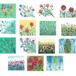 15 Flower Marbling Painting Background (JPG)