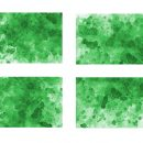 4 Green Watercolor Splash on Canvas Background (JPG)
