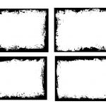 4 Grunge Rectangle Frame (PNG Transparent) Vol. 5