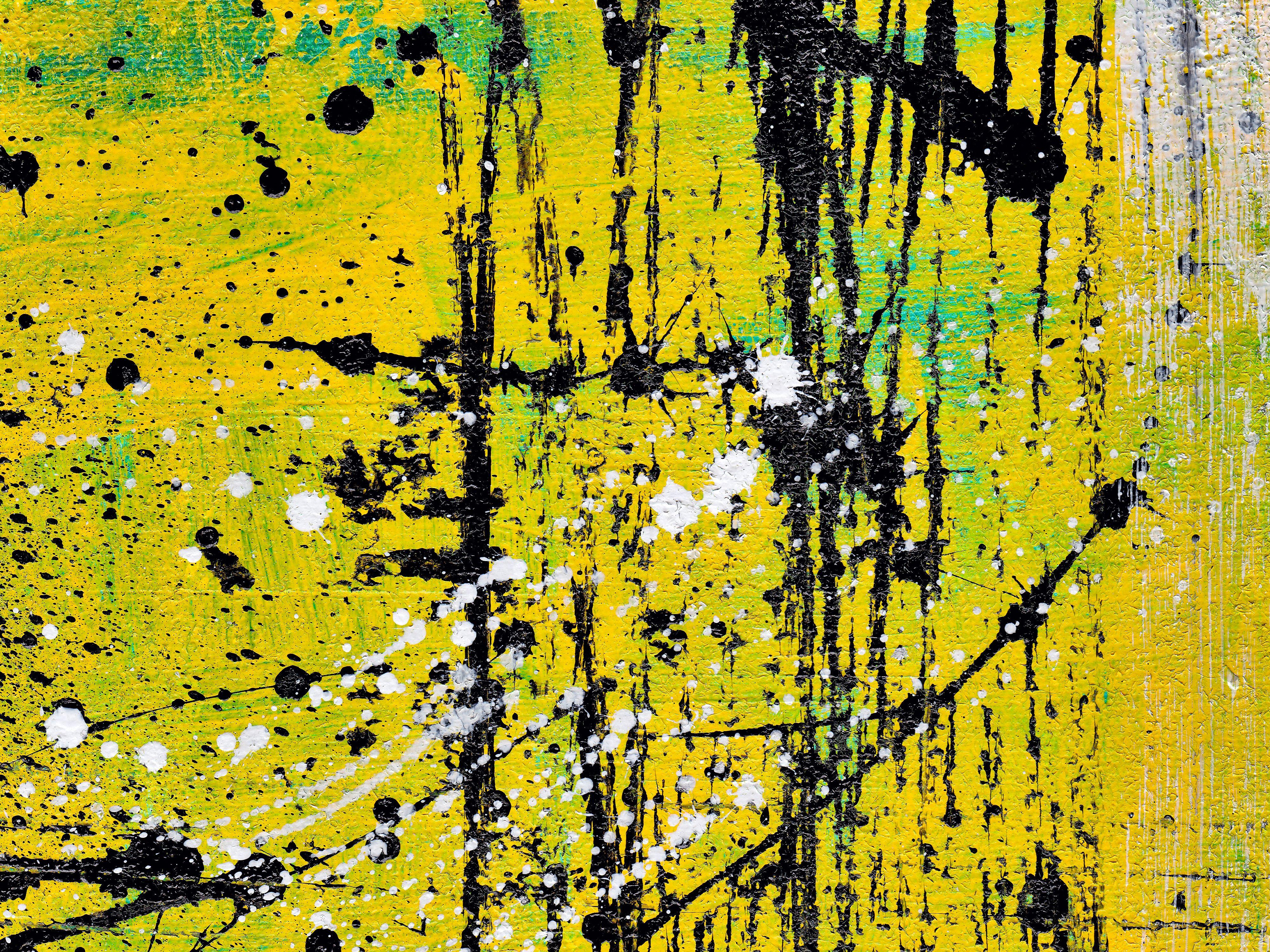 6 Abstract Acrylic Yellow Orange Black Background Jpg