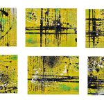 6 Abstract Acrylic Yellow Orange Black Background (JPG)