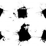 6 Grunge Square Stamp Splatter (PNG Transparent)
