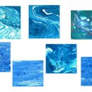 7 Blue Marble Painting Texture (JPG)