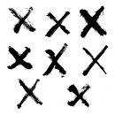 8 Grunge X (PNG Transparent) Vol.2