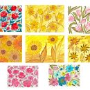 8 Watercolor Flower Paintings (JPG)