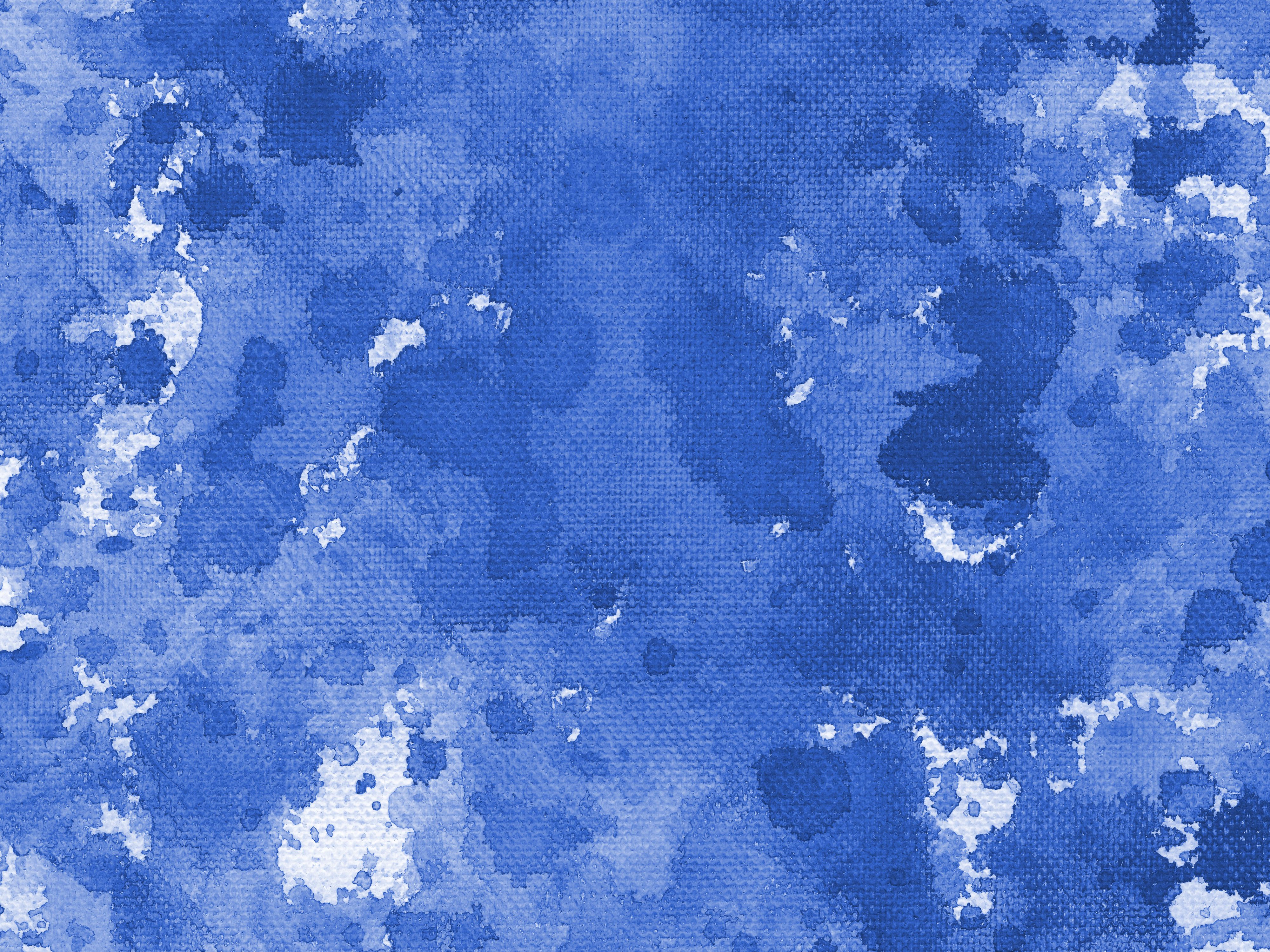 9 Blue Watercolor Splash On Canvas Background (JPG ...