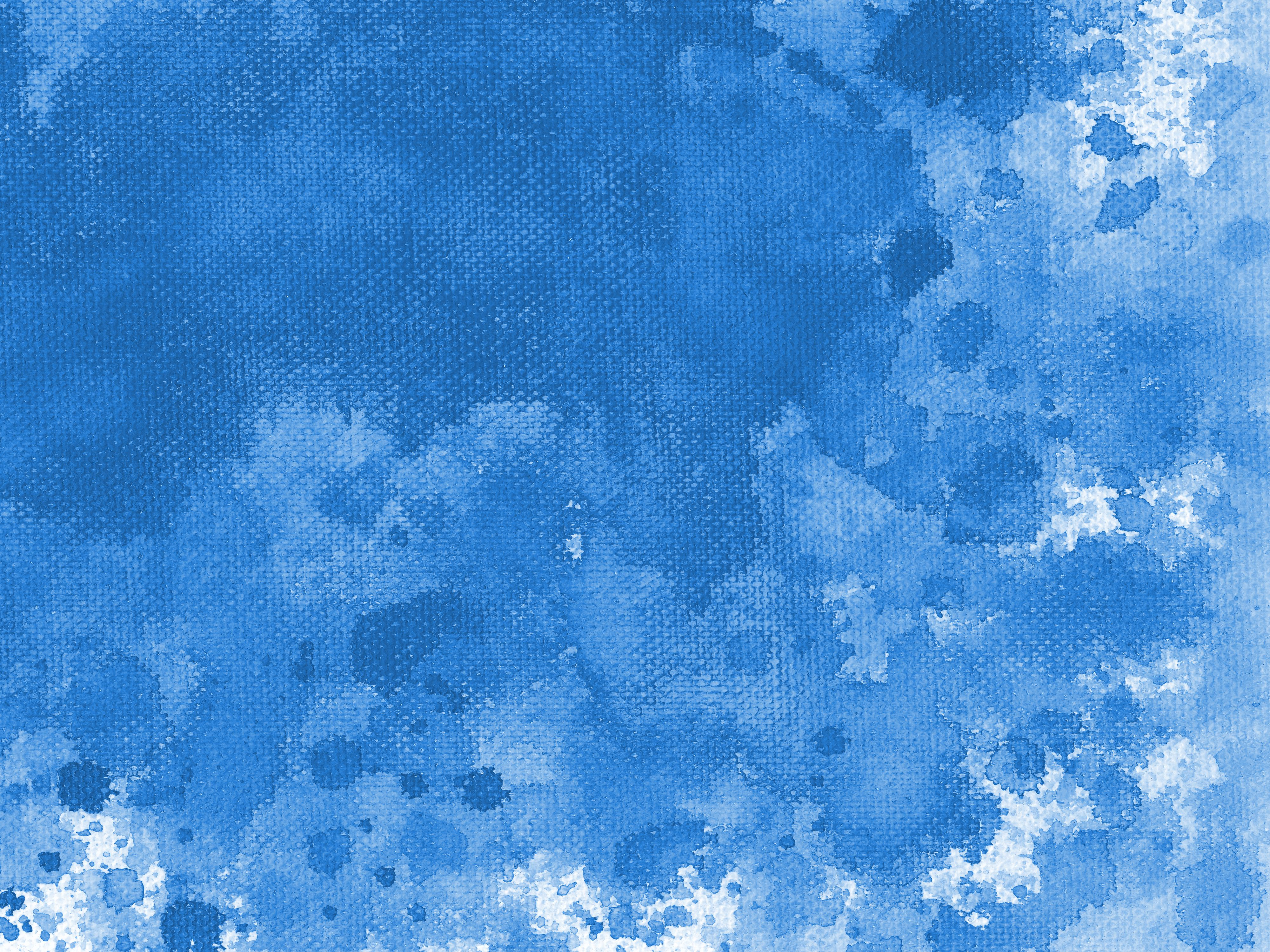 9 blue watercolor splash on canvas background  jpg