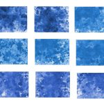9 Blue Watercolor Splash On Canvas Background (JPG)