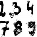 Grunge Numbers (PNG Transparent) Vol.3