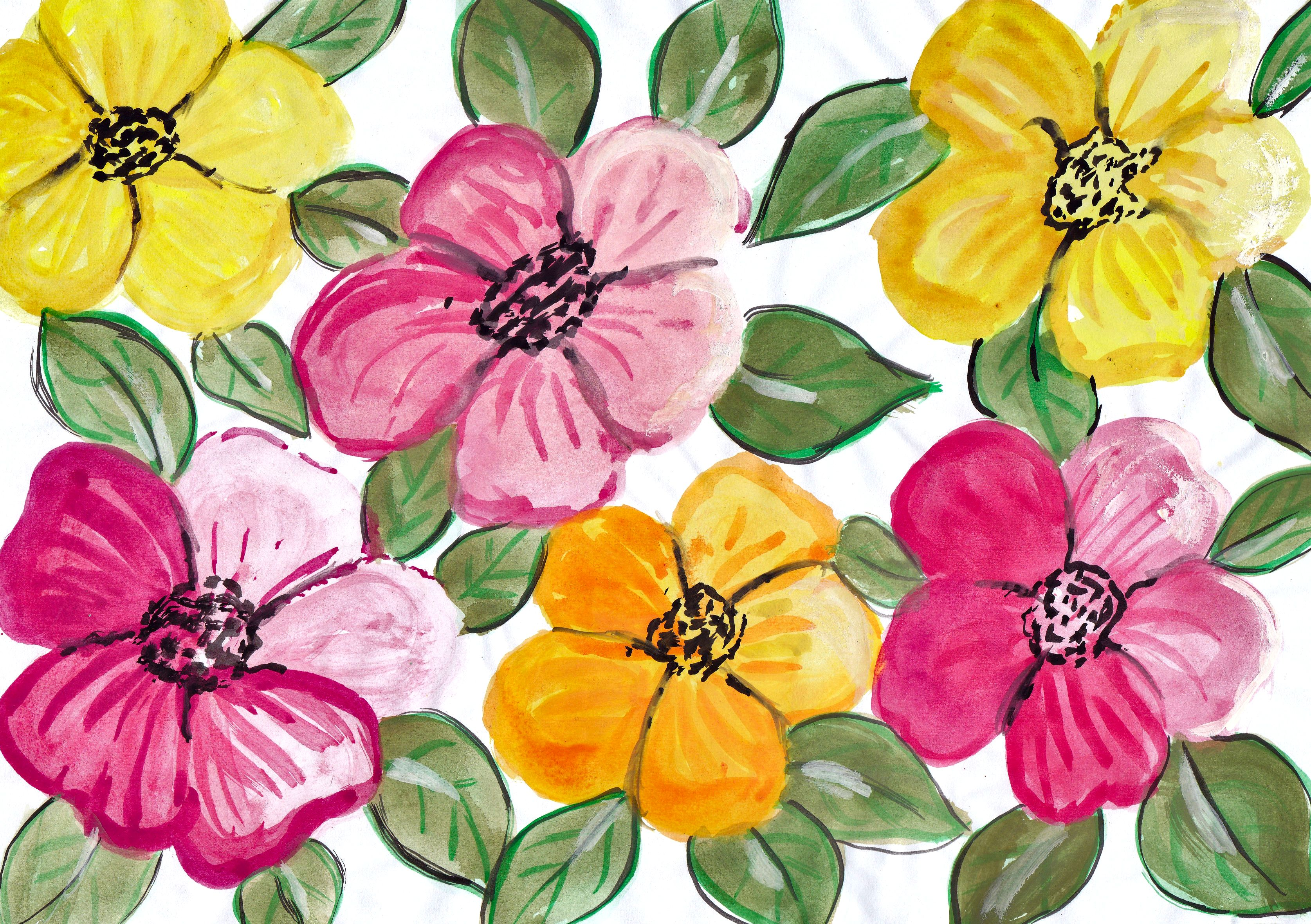 10 Watercolor Flower Painting Background Jpg Vol 2 Onlygfx Com