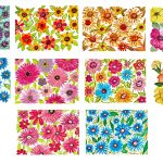 10 Watercolor Flower Painting Background (JPG) Vol.2