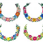4 Flower Wreath Painting (PNG Transparent)