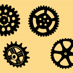 4 Gear Drawing (PNG Transparent)