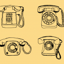 4 Old Telephone Drawing (PNG Transparent)