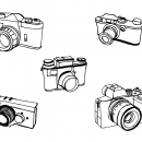 5 Old Photo Camera Drawing (PNG Transparent)