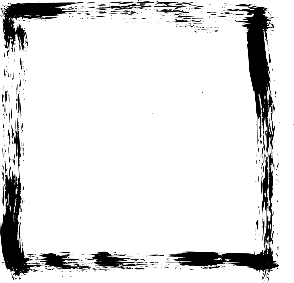 6 Grunge Brush Stroke Square Frame (PNG Transparent) | OnlyGFX com