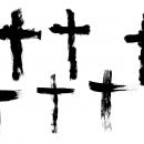 6 Grunge Cross (PNG Transparent)