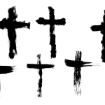 6 Grunge Cross (PNG Transparent)