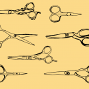 7 Scissors Drawing (PNG Transparent)