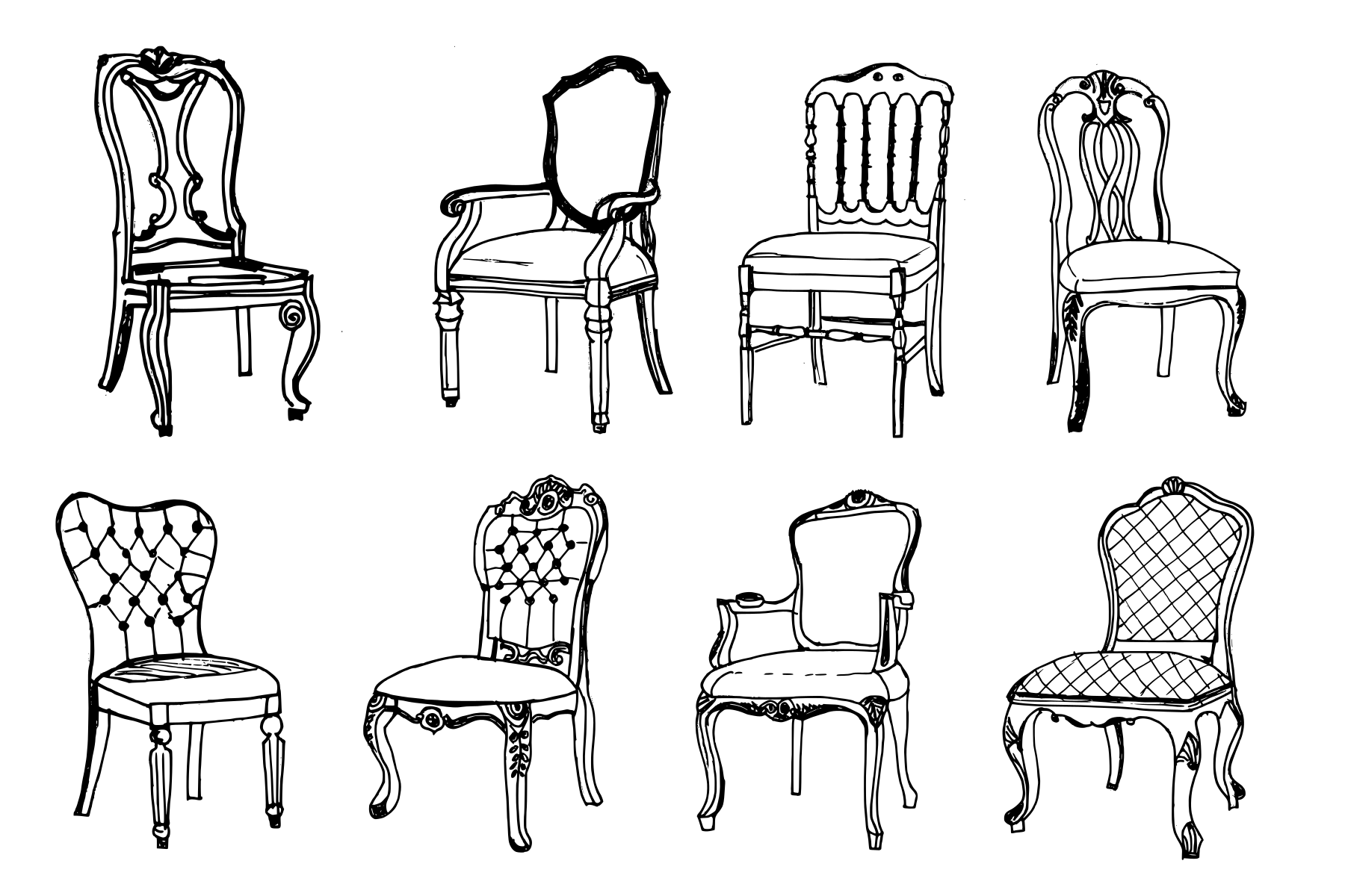 Fine 8 Vintage Antique Chair Drawing Png Transparent Onlygfx Com Pdpeps Interior Chair Design Pdpepsorg