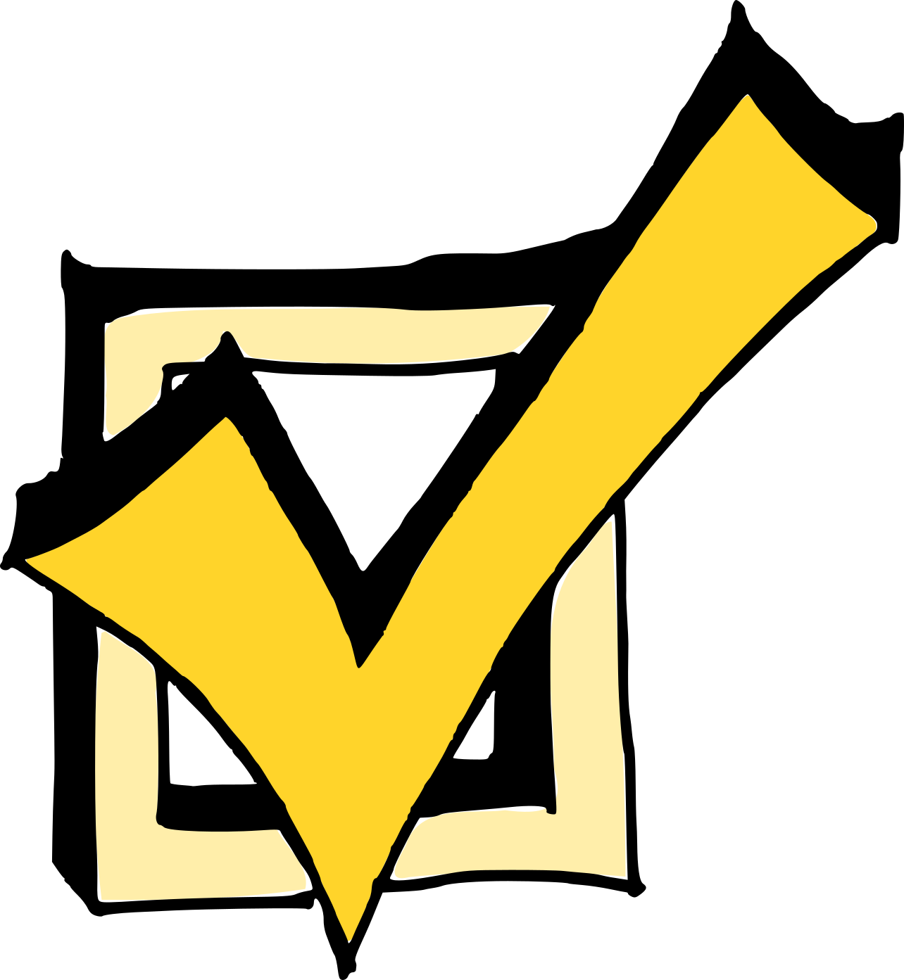 4 Comic Check Mark (PNG Transparent) | OnlyGFX.com on ✔  id=17232