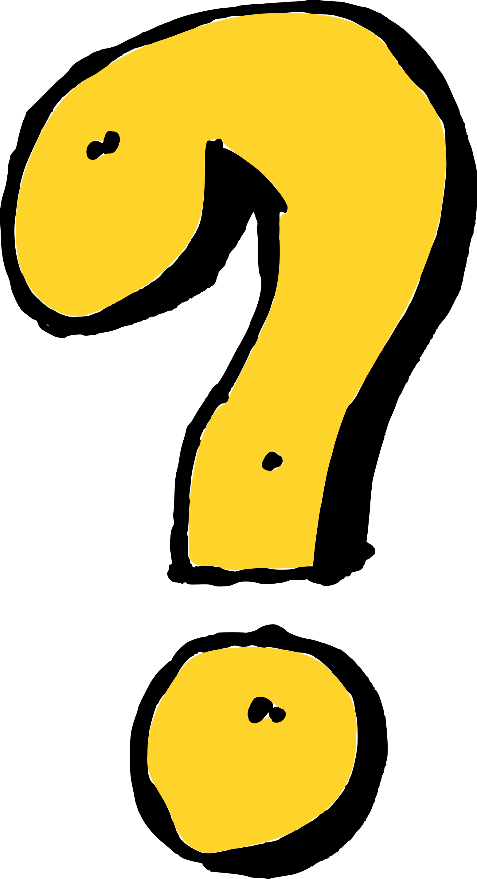 4 comic question mark  png transparent