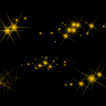 5 Gold Sparkle (PNG Transparent)