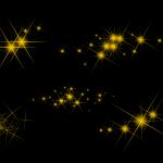 5 Gold Sparkle (PNG Transparent)