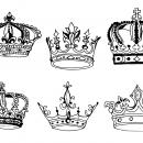 6 Crown Drawing (PNG Transparent)